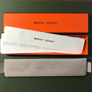 アップルウォッチ(Apple Watch)の Apple Watch HERMES ベルト 外箱 美品(レザーベルト)