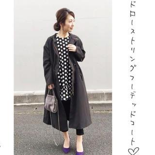 ジーユー(GU)の♡GU♡ドローストリングフーデッドコート  希少XS(スプリングコート)