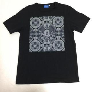 ディズニー(Disney)のミッキー フェイス 黒Tシャツ(Tシャツ(半袖/袖なし))