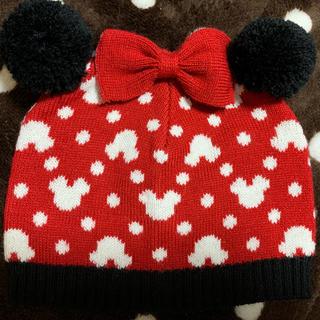 ディズニー(Disney)のミッキー柄の帽子(新生児サイズ40~42)(帽子)