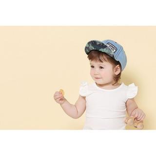 【大人気!】 ベビー 帽子 キャップ デニム かわいい te12(帽子)