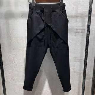 サルエルパンツ メンズ S〜2XL 黒 ワイド ガチョウパンツ AM034(サルエルパンツ)