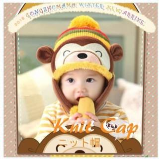 子供の帽子 冬の赤ちゃん耳たぶの帽子 かわいい 子供用  (帽子)