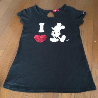 ディズニー(Disney)のミッキー  スパンコールTシャツ  ハート(Tシャツ(半袖/袖なし))
