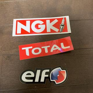 エルフ(elf)の モータースポーツ関連 ステッカー TOTAL elf NGK(ステッカー)
