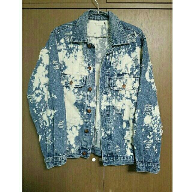 HARE(ハレ)のおしゃれ ハイストリート Gジャン デニム トップス ダメージ  メンズのジャケット/アウター(Gジャン/デニムジャケット)の商品写真