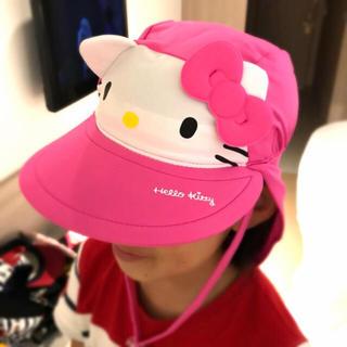 サンリオ(サンリオ)の新品 ! キティ スイムキャップ プール 帽子 キッズ 子供 UVカット 女の子(帽子)