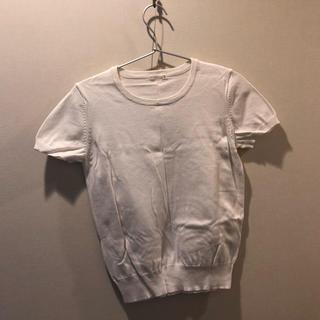 ジーユー(GU)の白トップス(Tシャツ(半袖/袖なし))