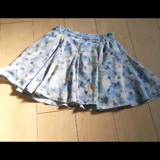ジーユー(GU)のGU 花柄 水色 スカート(スカート)