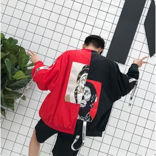 ピエロジャケットXXL/赤・黒 / ユニセックス(ナイロンジャケット)