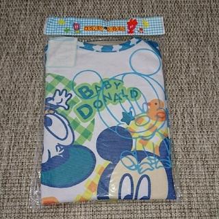 ディズニー(Disney)の☆訳あり品☆ミッキー&ドナルド長袖お食事エプロン(お食事エプロン)