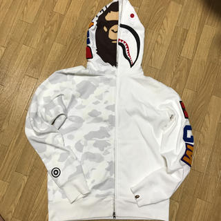 A BATHING APE - a bathing ape シャークパーカー M