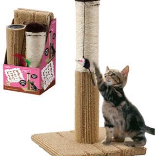 人気!ツメとぎタワー S 猫用 55cm ペット用品(猫)