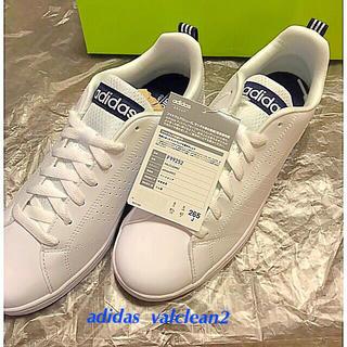アディダス(adidas)の【新品・未使用】アディダス・VALCLEAN2・ホワイト×ネイビー系☆26.5(スニーカー)