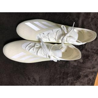 アディダス(adidas)のアディダス エックス18.1サッカー スパイクシューズ : ホワイト(シューズ)