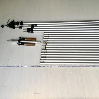 ロゴス(LOGOS)のロゴス アルミプッシュアップポール×4 ポールエンドロック二股三股他セット(テント/タープ)