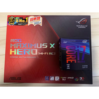 CORE i7 8700K ASUS ROG MAXIMUS X HEROセット(PCパーツ)