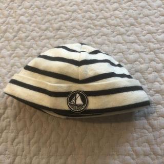 プチバトー(PETIT BATEAU)のプチバトー ボーダー帽子(帽子)