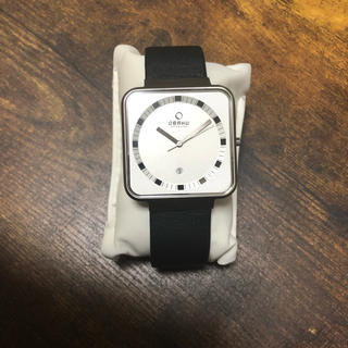 オバック(OBAKU)の腕時計(レザーベルト)