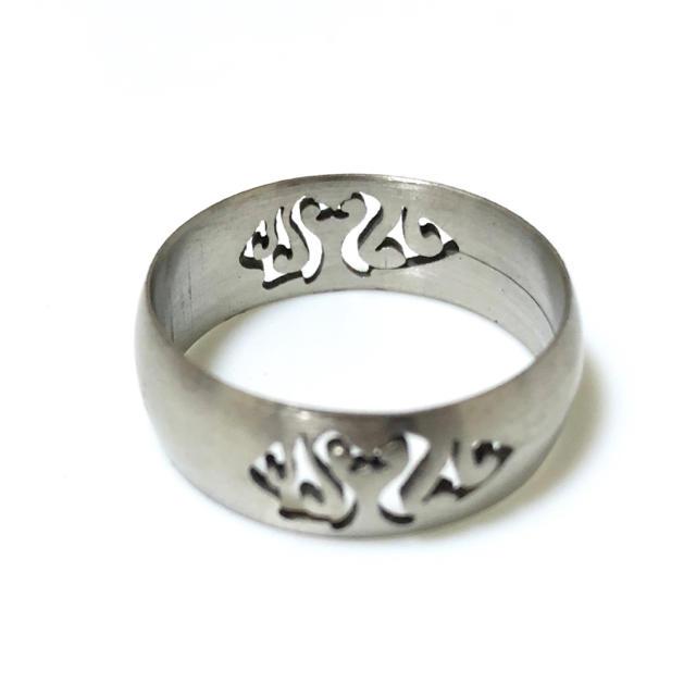 同時購入300円 透かし模様ステンレス指輪 メンズのアクセサリー(リング(指輪))の商品写真