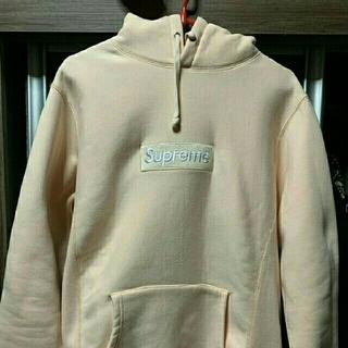 supreme  peach  box logo hoodie (パーカー)