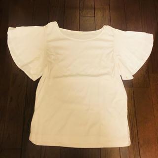 ジーユー(GU)のGU フリルスリーブTシャツ(Tシャツ(半袖/袖なし))