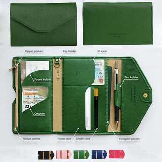 【多機能♡薄型】パスポートケース チケットケース 小銭入れ カード入れ (旅行用品)