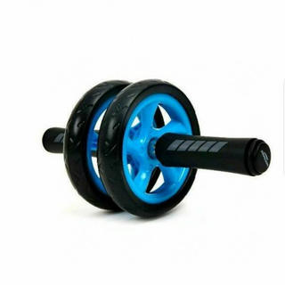 【新品】 超静音  腹筋ローラー 床マット付き 上半身のトレーニングに!(トレーニング用品)