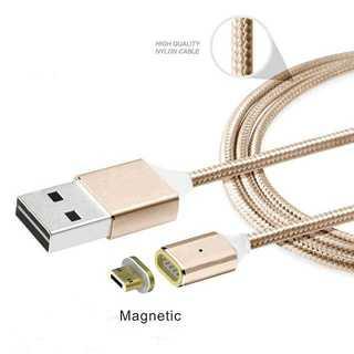 充電ケーブル ゴールド Android マグネット式 磁石 microUSB(その他)