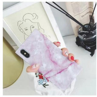 iphoneケース 大理石柄 マーブル スクエア 耐衝撃 高級感 光沢 キズ防止(iPhoneケース)