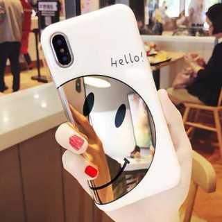 iphone7/8対応 iphoneケース ミラー スマイリー ニコちゃんマーク(iPhoneケース)