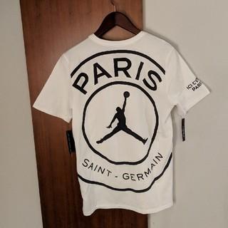 ナイキ(NIKE)のパリサンジェルマン tシャツ 白 us mサイズ ジョーダン(Tシャツ/カットソー(半袖/袖なし))