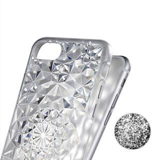 iPhone7 iPhone8 【クリア】キラキラ ダイヤカット クリアケース(iPhoneケース)