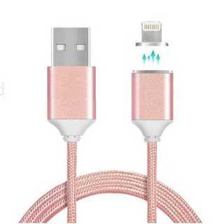 充電ケーブル ピンク iPhone Lightning マグネット式 磁石(その他)