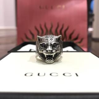 グッチ(Gucci)のGUCCI 〔グッチガーデン〕シルバーリング キャットヘッド 19号(リング(指輪))