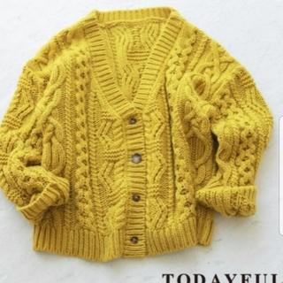 TODAYFUL - todayful 2way カーディガン yellow