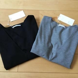 ザラ(ZARA)の新品ZARAザラ半袖VネックTシャツカットソーM2枚セット(Tシャツ(半袖/袖なし))