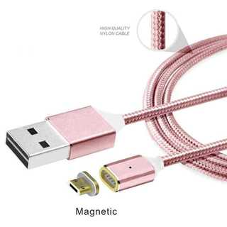 充電ケーブル ピンク Android マグネット式 磁石 microUSB(その他)