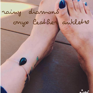 onyx leather anklet♡