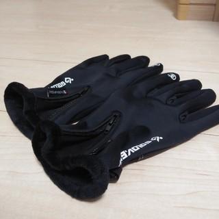 未使用 防寒手袋 グローブ 黒 タッチパネル(手袋)