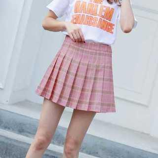 韓国 チェック ショート 春 ピンク ミニ 定番 プチプラ(ミニスカート)