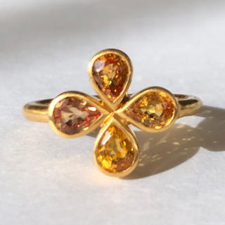 オレンジ サファイア ゴールド リング k18 検索 マリーエレーヌ (リング(指輪))