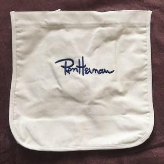 ロンハーマン(Ron Herman)のロンハーマン キャンバス トートバッグ ホワイト 刺繍ロゴ 新品 未使用(トートバッグ)