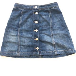 エイチアンドエム(H&M)の美品 / H&M デニムパンツスカート(ミニスカート)