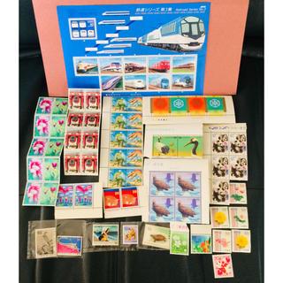 ◎通信切手 未使用 #鉄道シリーズ 記念など ☆額面 4,840円