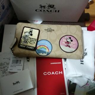COACH - COACH コーチ 長財布 新品 ディズニー ミニー