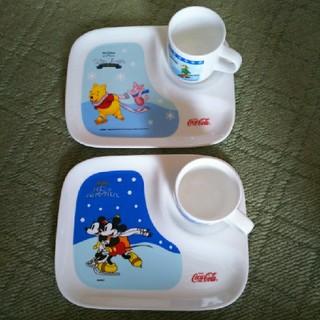 ディズニー(Disney)のディズニー ティーカップ&トレー ペアセット(食器)