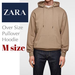 ザラ(ZARA)のZARA ザラ パーカー ビッグシルエット オーバーサイズ ベージュ Mサイズ(パーカー)