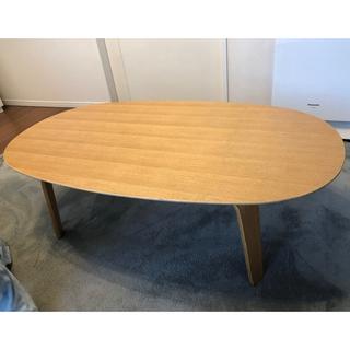ムジルシリョウヒン(MUJI (無印良品))の 無印良品★ローテーブル 110cm×62cm×35cm タモ材 ナチュラル (ローテーブル)