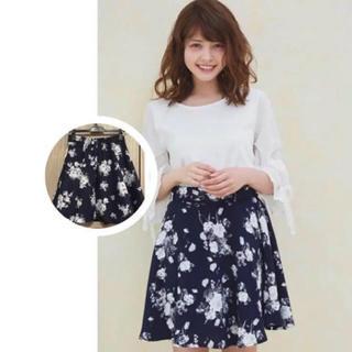 INGNI - 新品  花柄フレアスカート
